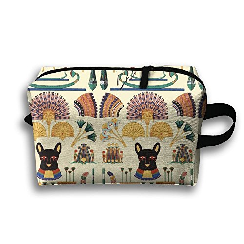 SO27Tracvel Black Cats Goddesses Bastet Ancient Egypt Toiletry Bag Dopp Kit Tactical Bag Accessories Travel Case
