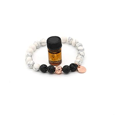 beaded Stress free Essential Oils Bracelet Calming Bracelet Lava Stone Bracelet Healing Crystals Bracelet Oil Diffuser