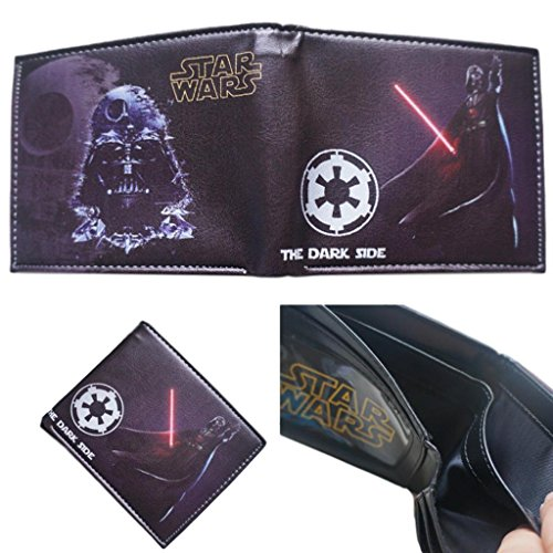Accessories Sith Boxed (Superheroes Star Wars Sith Darth Vader Bi-fold Men's Boys Wallet Gift Boxed)
