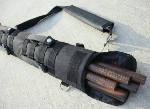 Escrima Tactical Arnis Carrying Case 2.5 Feet Long (Stealth Black) ()
