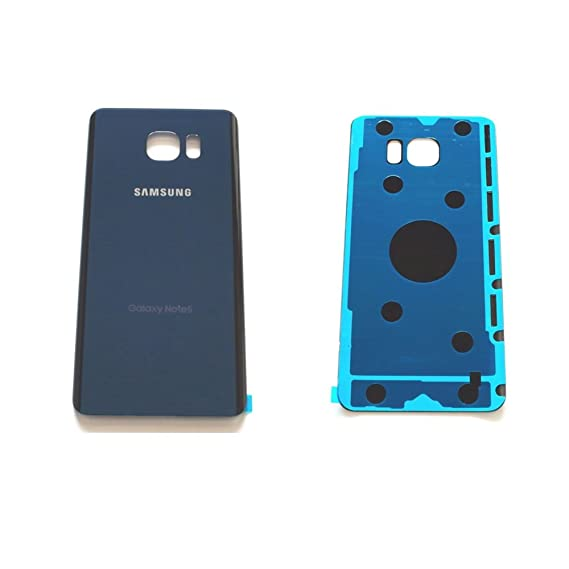 For Samsung Galaxy Note 5 N920 N920A N920T N920F Housing Battery Door Back Cover Glass Replacement Part USA Seller (Blue)