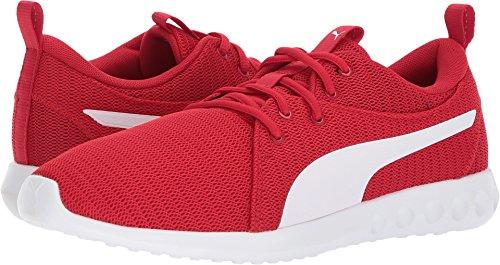 White Red Mens Shoes - PUMA Men's Carson 2 Sneaker, Toreador White, 10.5 M US