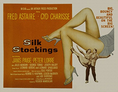"""Silk Stockings, Fred Astaire, Cyd Charisse, Janis Paige, Peter Lorre, 1957 - Store Movie Poster Reprint 36"""" by 28"""" Unframed"""