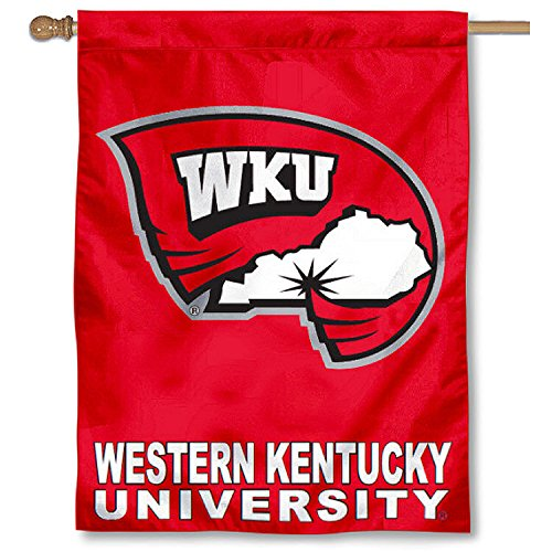 College Flags and Banners Co. Western Kentucky University Hilltoppers House Flag (Western University Kentucky)