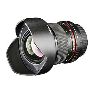 Walimex Pro 14 mm F/2.8 IF - Objetivo para cámara réflex Nikon (enfoque manual), color negro