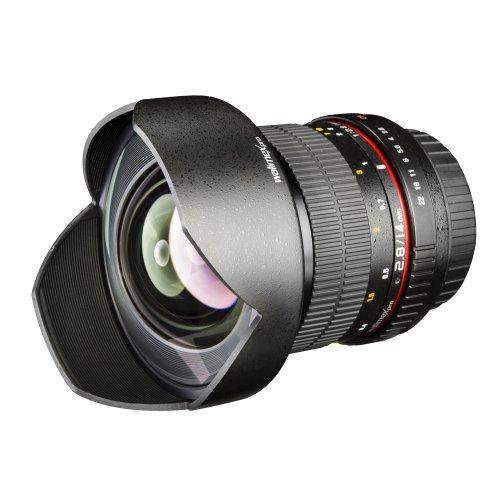Walimex Pro 14 mm 1:2,8 DSLR-Weitwinkelobjektiv für Canon EF Objektivbajonett schwarz (inkl. Objektivbeutel und Schutzdeckel)