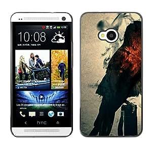 Caucho caso de Shell duro de la cubierta de accesorios de protección BY RAYDREAMMM - HTC One M7 - Mystic Búho