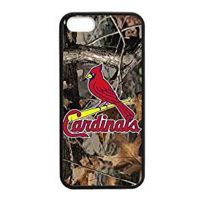 Custom MLB St. Louis Cardinals 01 Phone Case Cover For Iphone 5, 5S