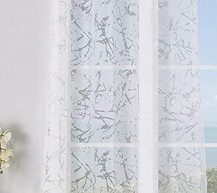 habitaci/ón y dormitorio Modelo Burnout Traranta Cortina translucida con 8 ollao de 140x260 para sal/ón Natural