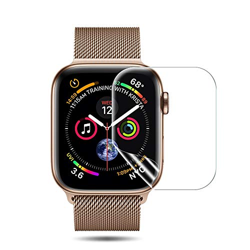 [6 Pack] LK Compatible with Apple Watch Screen Protector 40mm / 38mm (Series 4/3/2/1), LiquidSkin [HD Clear] Anti-Bubble flim with Lifetime Replacement Warranty