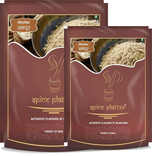 Spice Platter Dry Mango Powder - Amchur Masala - Aamchoor (300g) - Pack of 2 - (200G+100G) Pouch, 2 x 300 g