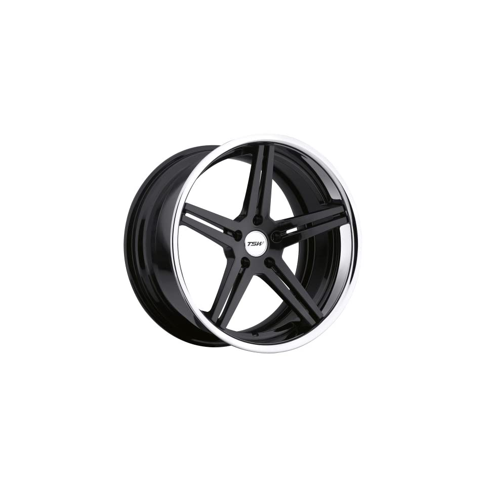 TSW Mirabeau Gloss Black Wheel with Machined Lip (20x10.5/5x120mm)