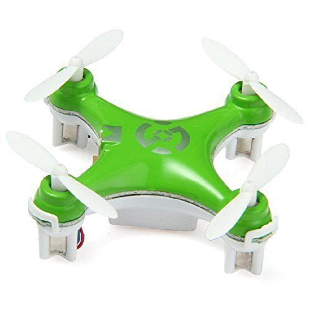 OneCase Cheerson CX-10 29mm 4 Channel 2.4GHz Radio Control RC Mini Quadcopter Helicopter Drone 6-Axis Gyro UFO with LED Flash Light - Grün