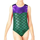 Kyпить BAOHULU Girls Sparkle Mermaid Dancing Gymnastics Tank Leotards (6A(Recommended age 5-6Y), Green) на Amazon.com