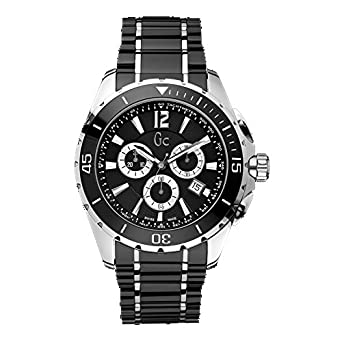 Guess Mens Quartz Chronograph Sport Class XXL Watch - Black & Silver - GUESS-X76002G2S