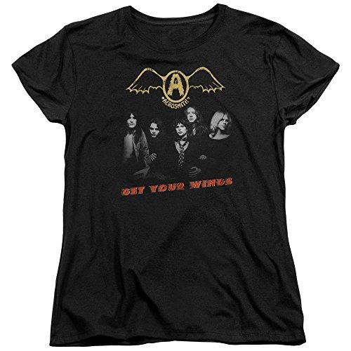 shirt Femmes Black T Commandez Aerosmith Votre Ailes ITq1Iwf