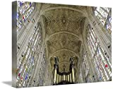 Wall Art Print entitled Ceiling Of King's College Chapel, Cambridge, Engl by Design Pics