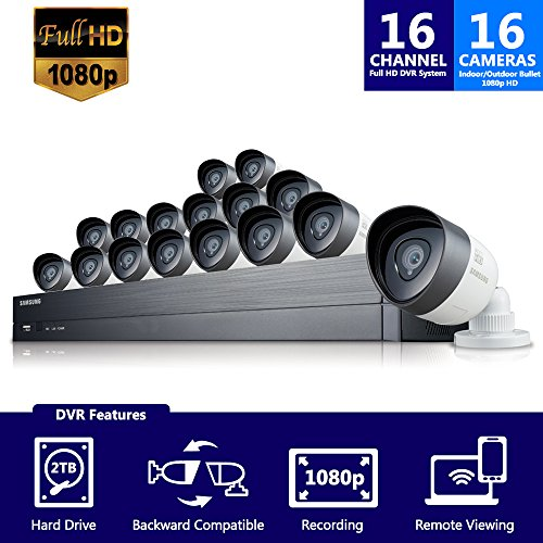 Samsung Wisenet SDH-C75100-16 ecurity Video Camera System Complete Surveillance System, Black & White by Samsung