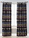 North End Décor Black Mesa Southwest Room Darkening Curtain Panels, 2 Panels (48″ x 84″ each) Included For Sale