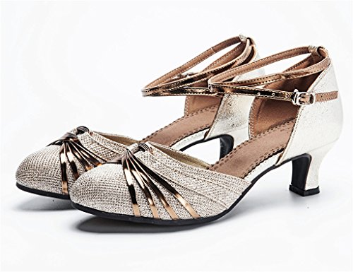 Sandals Closed Shoes Rubber Womens Glittering Knot Tango Dance Latin staychicfashion Dancing Striped Closed Toe 1CRfZnP