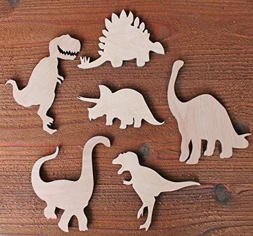 Set of 6 Large Dinosaur Wood Cutout Shapes 6