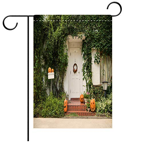 BEICICI Custom Personalized Garden Flag Outdoor Flag an Adornment Decorated on The Day of Halloween Decorative Deck, Patio, Porch, Balcony Backyard, Garden or Lawn]()
