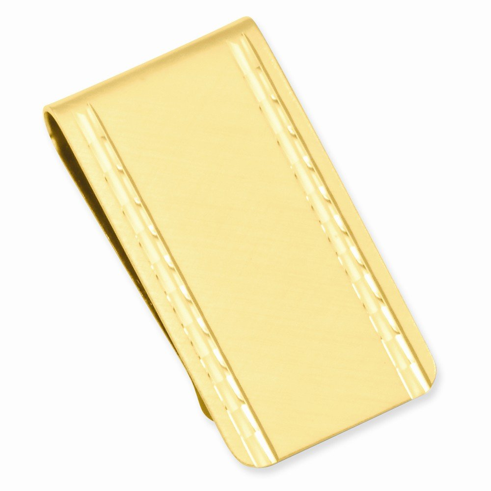 Gold-plated Florentined Satin Money Clip
