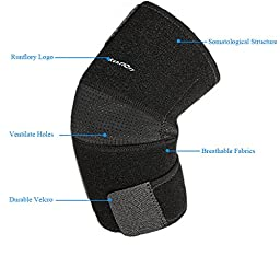 Runflory Adjustable Elbow Brace Support, Breathable One Size Sports Tennis Golfers Support Protector Guard Pads for Tendonitis, Outdoor Activities, Elbow Injury -Tendonitis Elbow Brace
