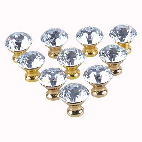 gold and crystal knobs - 1
