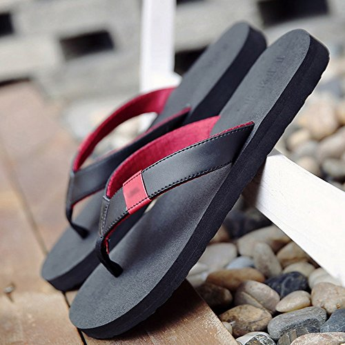 Hausschuhe Feifei Rutschfeste Strand Farbe Mode Lässige Sommer 3 Herrenschuhe Atmungsaktiv Schwarz Optional Persönlichkeit w8xd0Rp0qn