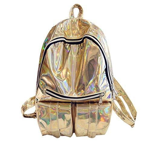 Milya - Bolso mochila  para mujer dorado