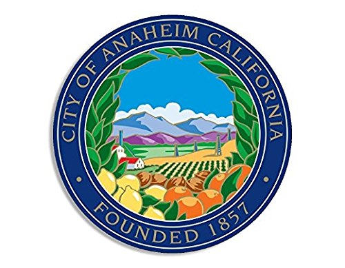 Anaheim California City Seal Sticker (decal bumper window CA los angeles)- Sticker Graphic Decal