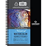 Canson Artist Series Montval Watercolor Paper Pad, Heavyweight Cold Press and Micro-Perforated, Side Wire Bound, 140 Pound, 5.5 x 8.5 Inch, 20 Sheets
