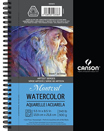 140 Lb Watercolor Pad ( Canson Artist Series Watercolor Pad, 5.5