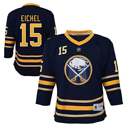 NHL by Outerstuff Youth Buffalo Sabres Jack Eichel Blue Replica Player Jersey (Youth S/M)