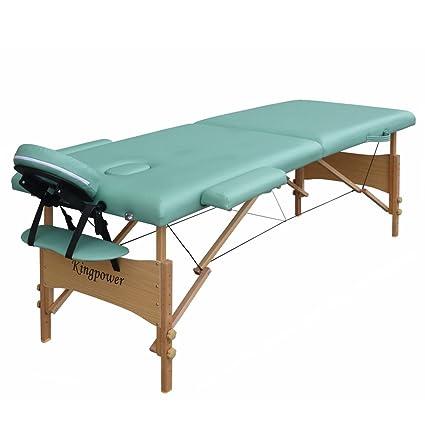 Accessori Lettino Massaggio.Reiki Lettino Massaggio 2 Zone Con Il Sacchetto E Accessori Kingpower Verde