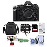 Nikon Df DSLR Body, Black - Bundle Camera Case, 32GB SDHC Card, Cleaning Kit, Screen Protector, Memory Wallet, Card Reader, Mac Software Package