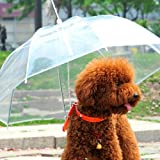 Transparent Waterproof Pet Umbrella Raincoat With Leash