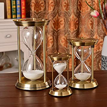Sanduhr Deko.Hwqx Ornamente Dekoration Aus Glas Metall Sanduhr Timer