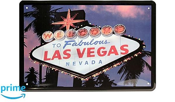 Welcome to Fabulous Las Vegas Nevada USA América 20 X 30 cm cartel de chapa 1051
