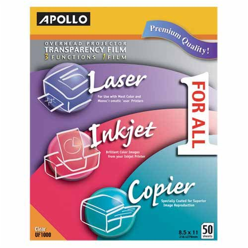 o Apollo c/o Acco World o - All-Purpose Transparency Film, 8-1/2
