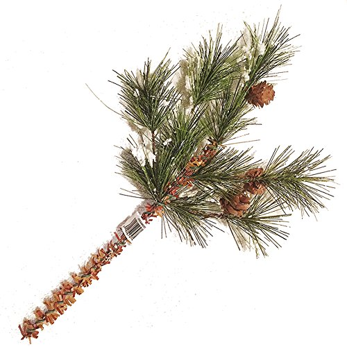 Snow Pine Cones Pick 12 inch by Darice Christmas Flowers Floral (Picks Christmas Floral)