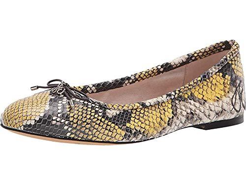 Yellow Multi Print - Sam Edelman Women's Felicia Tuscan Yellow Multi Exotic Snake Print Leather 8.5 W US