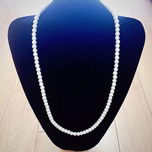 Long Faux Ivory Pearl Necklace Set (7mm X 5mm ) Can Use As Diy Jewelry , Table Setting , Wedding Accessory - Faux Strand Necklace