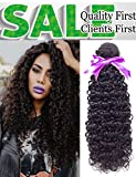 "Malaysian Curly Virgin Hair Only One Bundle 100% 8A Unprocessed Malaysian Sexy Deep Curly Weave Human Hair Extensions Natural Color (14"") Review"