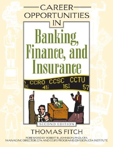 Career Opportunities in Banking, Finance, And Insurance