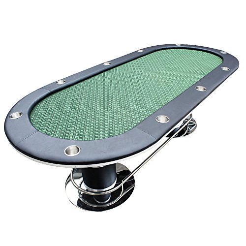 """IDS Professional Solid Double Base Poker Table 10 Players Dining Top, Best Poker Table, 96"""" L x 43"""" W x 30"""" H, Oval, Green"""