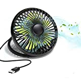 MECO USB Desk Fan, Portable Personal Table Mini Quiet Cooling Fan with Handle, Two Speeds Adjustable 6 Inch for Home Office Travel Camping Kids