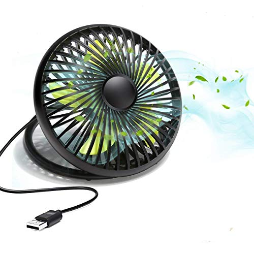 MECO USB Desk Fan, Portable Personal Table Mini Quiet Cooling Fan with Handle, Two Speeds Adjustable 6 Inch for Home Office Travel Camping Kids by MECO