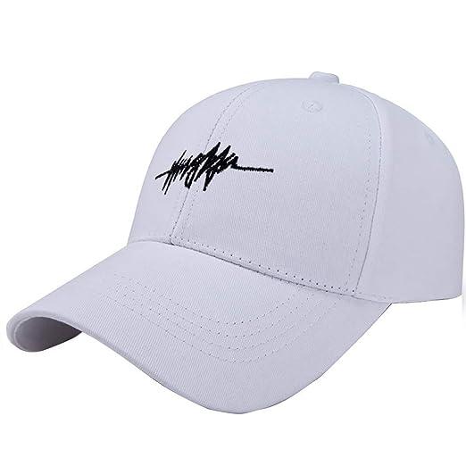 8ceca5291d1 TANGSen Women Men Unisex Korean Canvas Baseball Cap Fashion Travel Outdoor  Casual Cap Hat Sun Hat White at Amazon Men s Clothing store